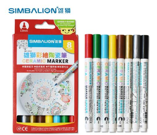 Painted Ceramic Marker Pens Creative DIY Glass Hand Painted Porcelain Cups Mug Paint Brush 8 Color Set Art Mark pen honeywell metrologic ms7625 rs232 horizon page 8