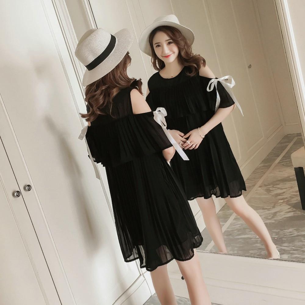 9190 2018 new spring / summer maternity chiffon strapped shoulder dress (belt)