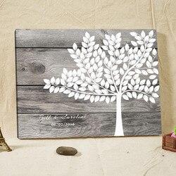 شخصية إطار الزفاف سجل الزوار ، قماش ريفي بصمة شجرة سجل الزوار ، البديل خشبية توقيع كتاب ، الزفاف ديكور