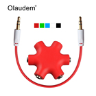 Mobile Phone Cables Audio Splitter 3.5mm Earphone Cable Extension Stereo Adapter 1 Male to 2 3 4 5 Female Music Sharing AXC1118