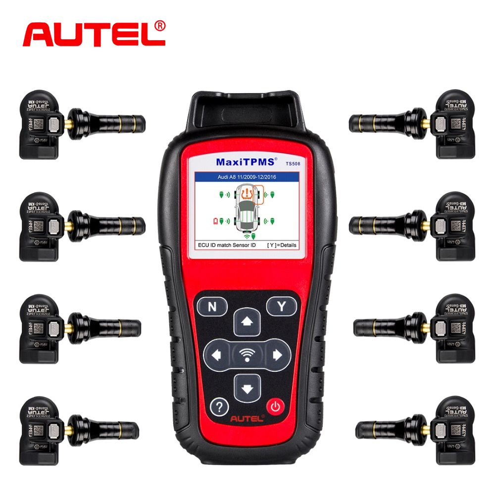 Autel MaxiTPMS TS508K TPMS диагностический инструмент Система контроля давления в шинах Сброс с 8 шт. программируемый 433 МГц tpms MX-сенсор