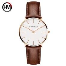 Для женщин часы Творческий Лидирующий бренд Японии кварцевый механизм часы Модные Простые повседневные кожаный ремешок Женский водонепроница…