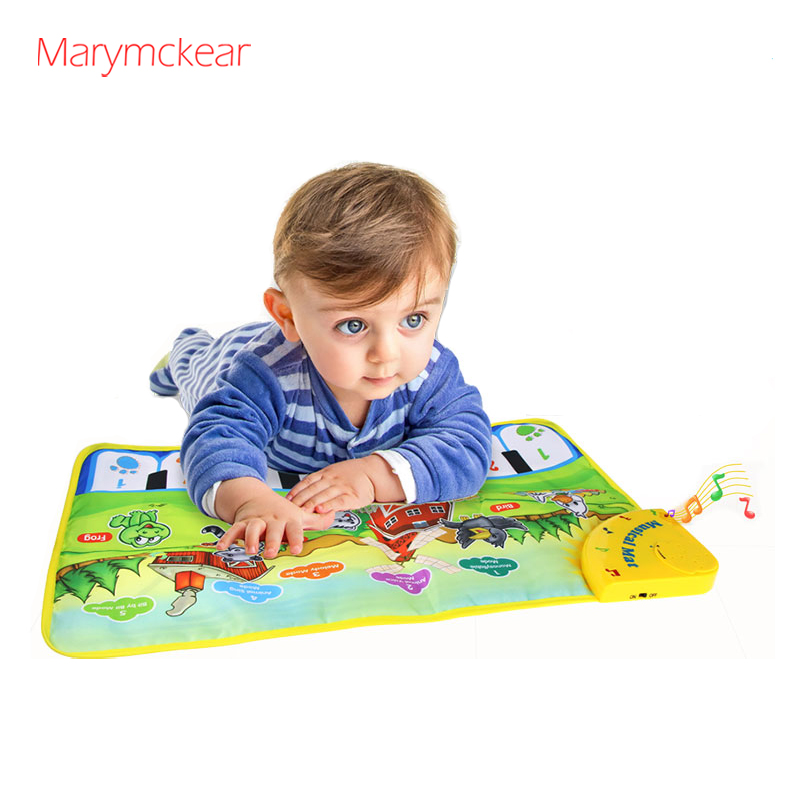 Musical Mat For Children Baby Piano With Animal Sound Toddler Toys Kids Piano Musical Toy Education Learning Pad Farm Music