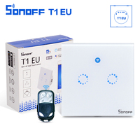 Sonoff T1 EU 1 2 Gang Wall Touch Smart Switch Panel Remote Control Wireless Light Switch
