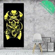 3 шт. Ковбойский череп змея холст декоративная картина стены плакат современные настенные панно  Лучший!