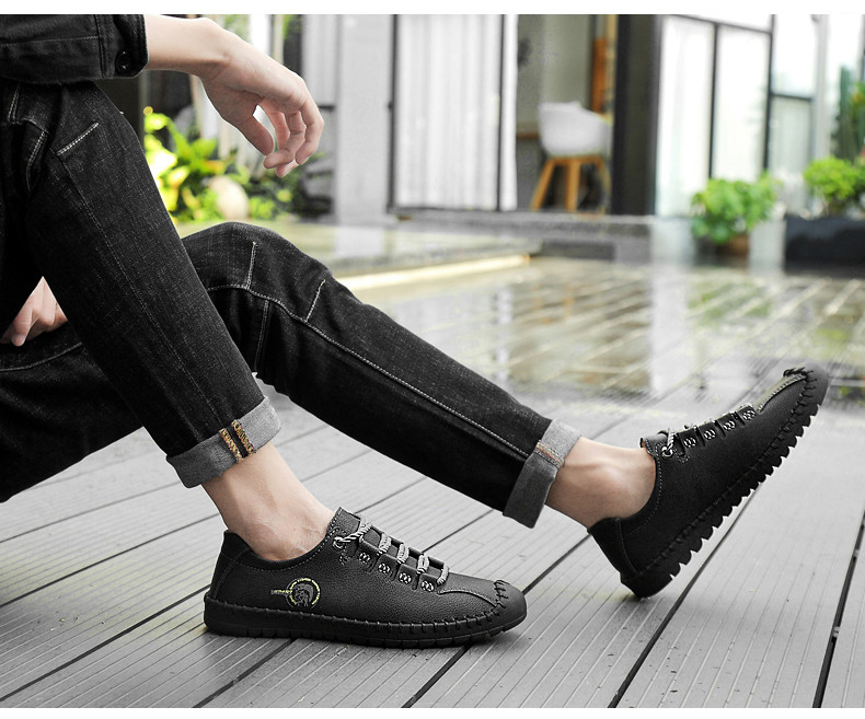 HTB1zibVxW6qK1RjSZFmq6x0PFXau - 2019 New Fashion Leather Spring Casual Shoes Men's Shoes Handmade Vintage Loafers Men Flats Hot Sale Moccasins Sneakers Big Size