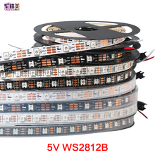 1m/5m DC5V individually addressable ws2812b led strip light 30/60/144 pixels, smart RGB led light tape ribbon IP67 IP65 IP30
