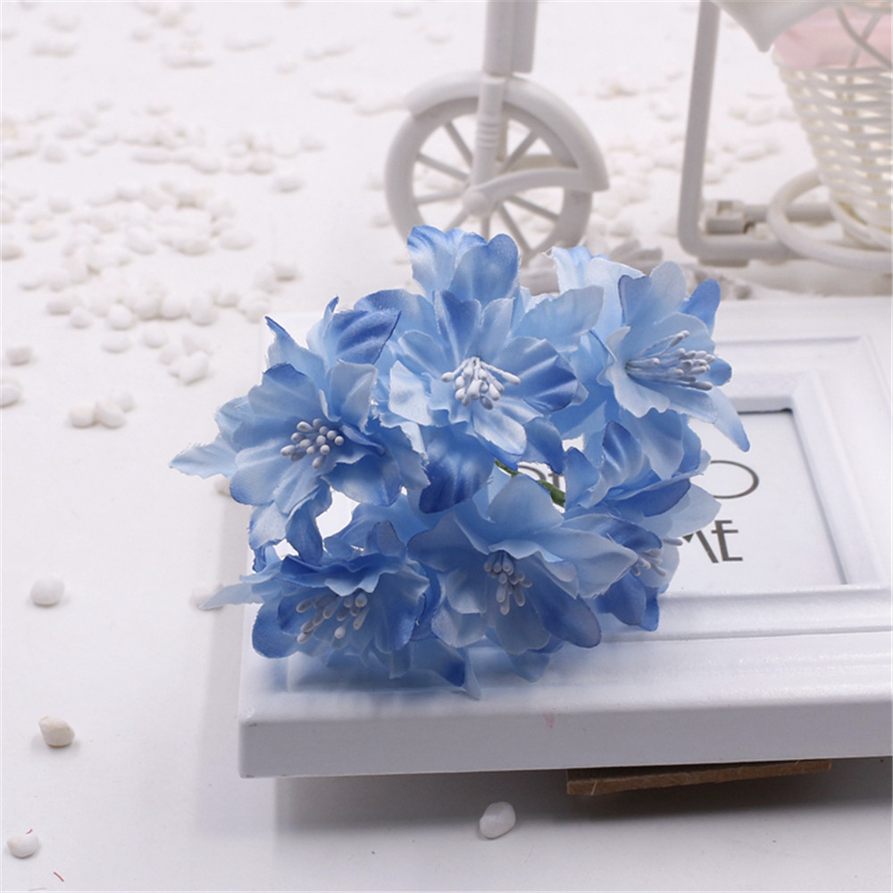 6pcslot 45cm cheap silk artificial lily flower bouquet for wedding 6pcslot 45cm cheap silk artificial lily flower bouquet for wedding decoration diy wreath scrapbooking supplies craft flower in artificial dried flowers izmirmasajfo