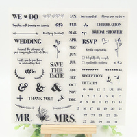 1 Sheet DIY The Date Design Transparent Clear Rubber Stamp Seal Paper Craft Scrapbooking Decoration