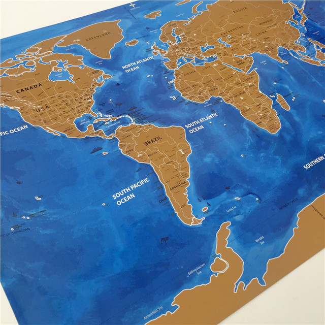 New arrival blow world map the world ocean map home decor wall art new arrival blow world map the world ocean map home decor wall art craft vintage poster gumiabroncs Gallery