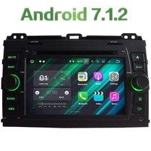 Android 7.1.2 Quad Core 2GB RAM 16GB ROM 2DIN car multimedia dvd radio player For Toyota Prado 2006 2007 2008 2009 2010