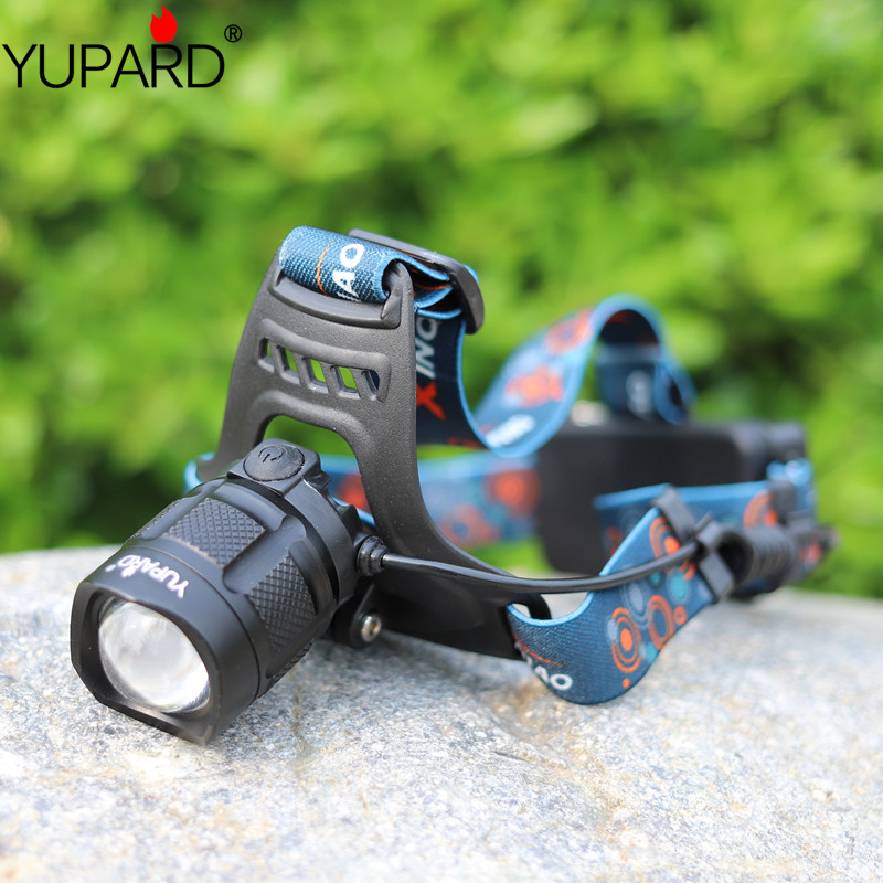 چراغ قوه YUPARD USB XM-L2 LED T6 LED چراغهای جلو با قدرت بالا خروجی بانك قدرت بالا شارژ USB باتری قابل شارژ 18650
