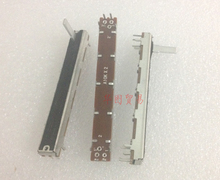 1pcs SL6021G A10K 75MM Mixer Slide Potentiometer / Shank Length 15MMC A10Kx2 Dual Channel Fader variable resistors