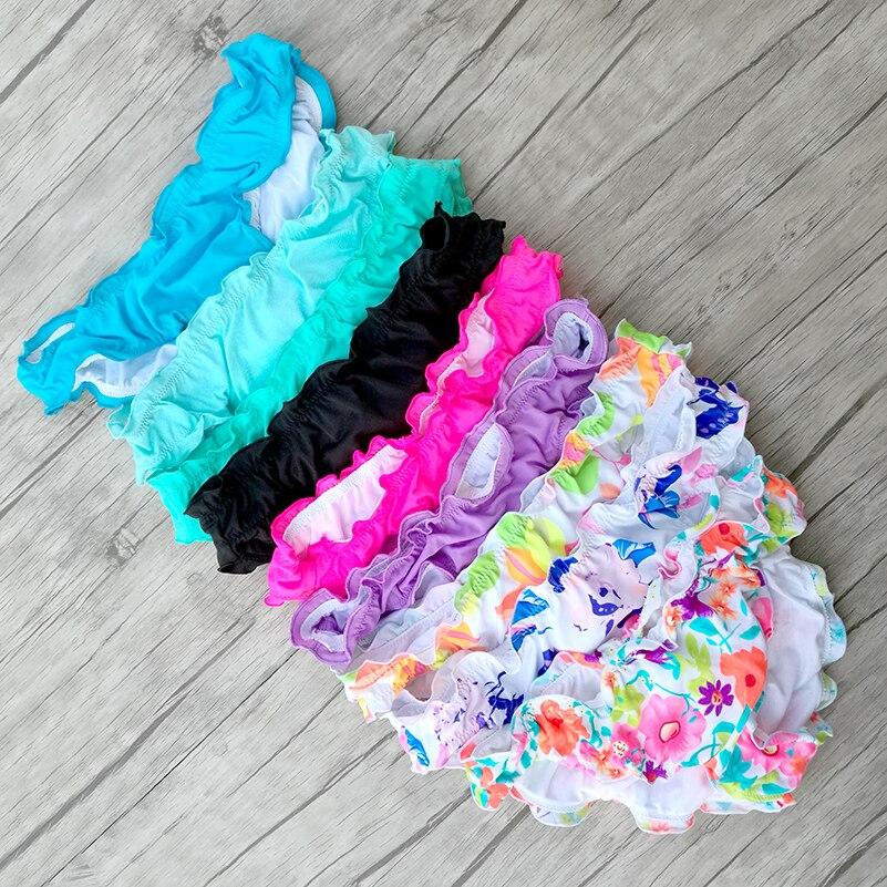 Women Short Bottom 2018 Ruffles Biquini Printing Swimwear Bikinis Swimsuit Brand swim suit Sexy Secret Brazilian Bottoms