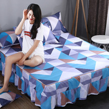1 piece 100% cotton flowers bed skirt