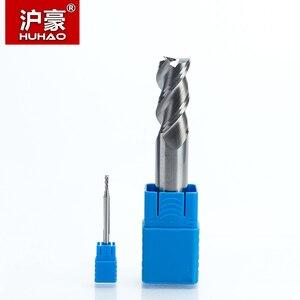 Image 3 - HUHAO Fresa de carburo sólido de 3 flautas, fresa CNC de aluminio HRC45, brocas de enrutador de acero de tungsteno, 1 unidad