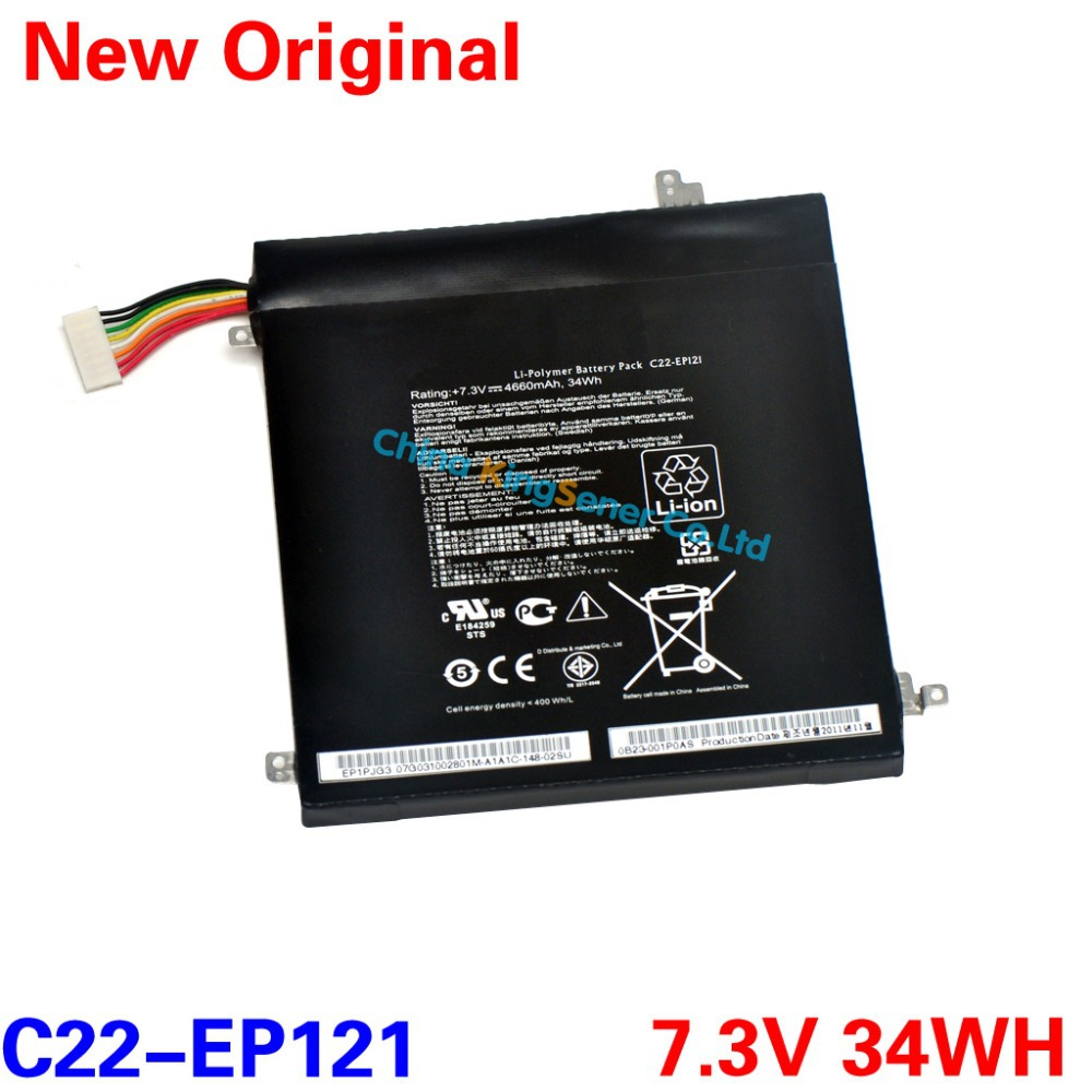 7.3V 34WH Original New Battery C22-EP121 For ASUS Eee Pad EP121 B121 B121-A1 EP121 B121-1A031F B121-1A001F Free 2 Years Warranty