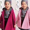 Casacos de Bebé Com Capuz Pano Figurado para Meninas Rosa/Roxo Crianças Meninas Roupas de Inverno Casaco outerwear