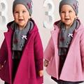 Tela Estampada de la Niña Con Capucha Abrigos para Niñas de Color Rosa/Púrpura Niños Chicas Abrigo de Invierno prendas de vestir exteriores