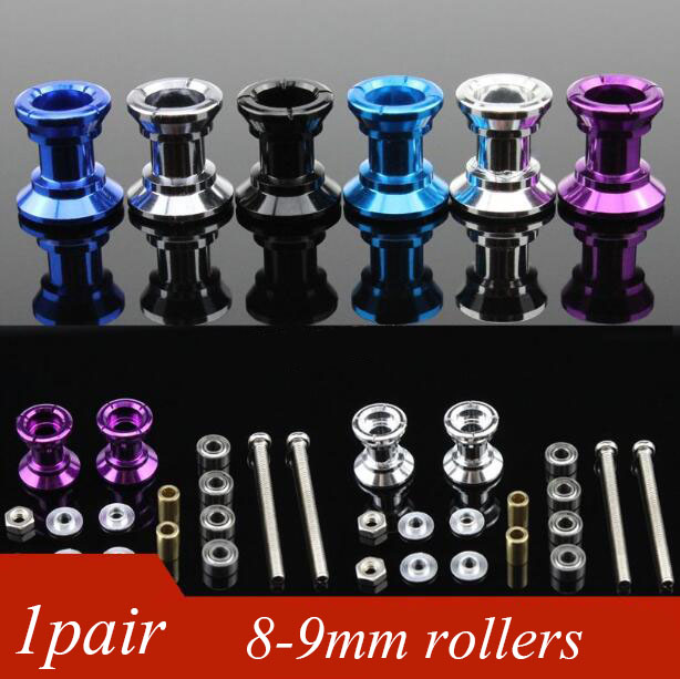 Free Shipping 1 Pair 8-9mm Double Guide Roller For DIY Tamiya Mini 4WD Racing Car Aluminum Alloy Rollers Spare Parts free shipping ms msl chassis spare parts set kit for diy tamiya mini 4wd rc racing car with dual shaft motor