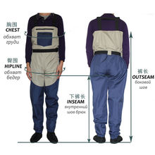 Fly Fishing Stocking Foot Wader Affordable Breathable Waterproof Chest Wader