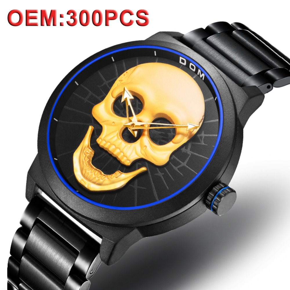 OEM Custom Logo Watch Skull Dial Quartz Fashion OEM Branding Men Steel Watch Private Label Design Your Own Logo Watch ManOEM Custom Logo Watch Skull Dial Quartz Fashion OEM Branding Men Steel Watch Private Label Design Your Own Logo Watch Man