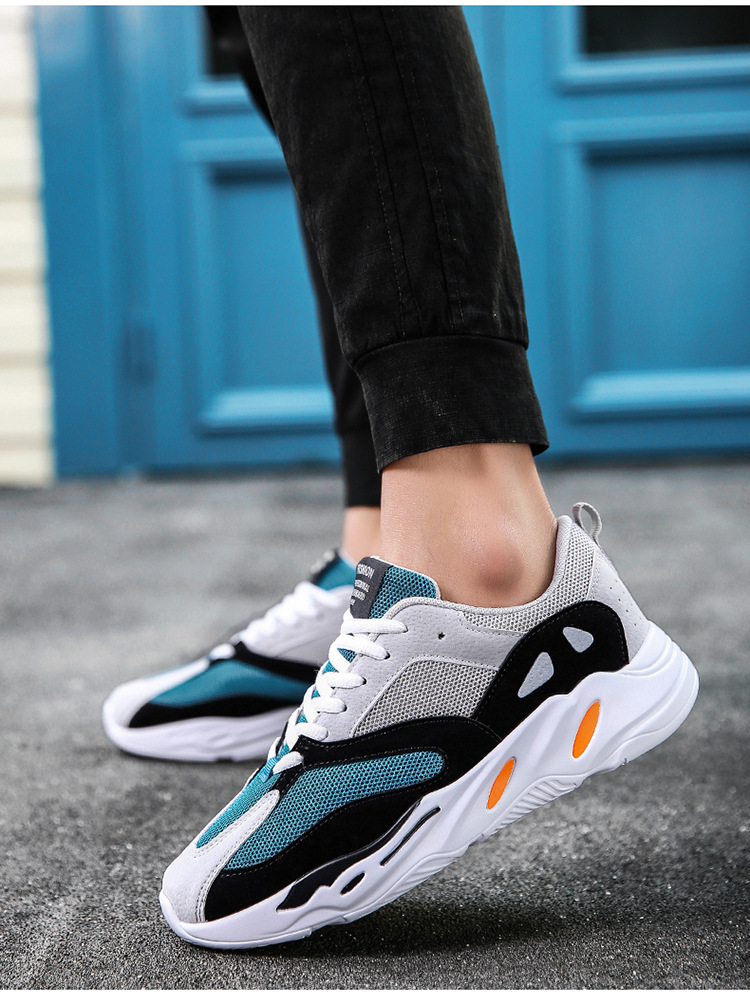 0bf883e2bf2 HUANQIU 2018 dad Men shoes kanye west fashion mesh light breathable men  casual shoes men sneakers zapatos ZLL258