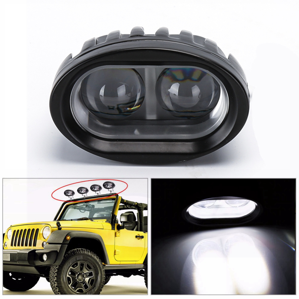 Car styling Car led Work Light Tractor Work Lights for Truck Motorcycle fog light Spot Light Lamp for Moto 20w High Power 12-80v laser anti collision security system defense system fog light warning light for car motor truck tractor in rain fog and haze