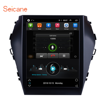 Seicane GPS For 2015 2016 2017 Hyundai Santafe IX45 9.7 inch HD Touchscreen Android 9.1 Bluetooth FM Wifi Car Multimedia Player image