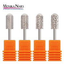 hot deal buy monika nail tungsten carbide burrs nail drill bit rotate bits for manicure nail drill accessories milling cutter