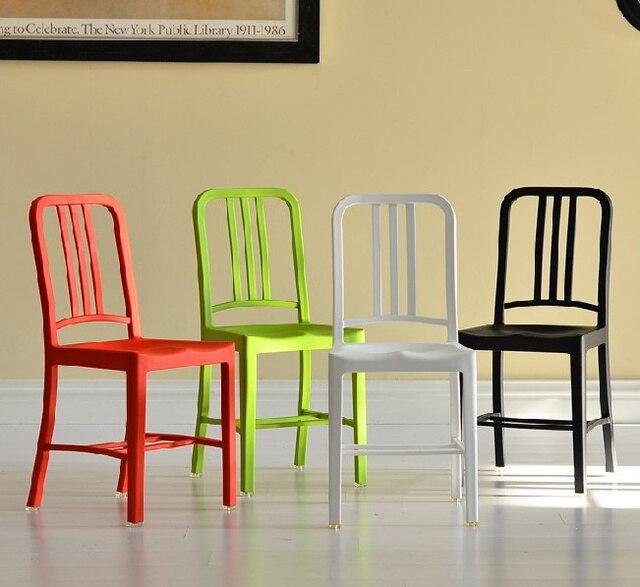 Plastikstuhl Ikea billige mode lässig navy stuhl plastikstuhl minimalistischen moderne