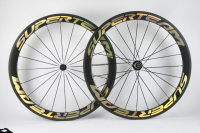Superteam 700c carbon clincher wheels 50mm 700c wheelset 23mm Gold Decal
