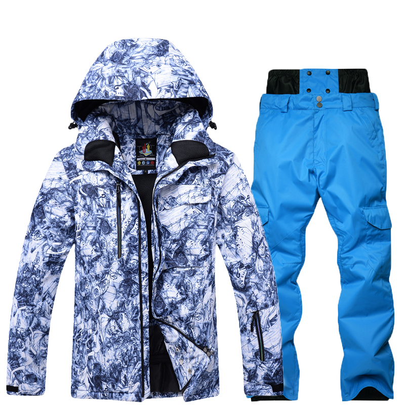 New Men Snow clothes Skiing suit sets specialty snowboarding sets Waterproof windproof winter sports Snow jackets and pants new men snow clothes skiing suit sets specialty snowboarding sets waterproof windproof winter sports snow jackets and pants