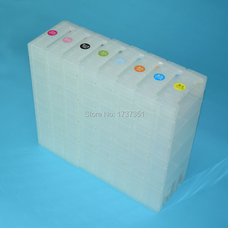 8 color 1800ml empty refill ink cartridge for Epson Stylus Pro GS6000 printer t6241 -t6248