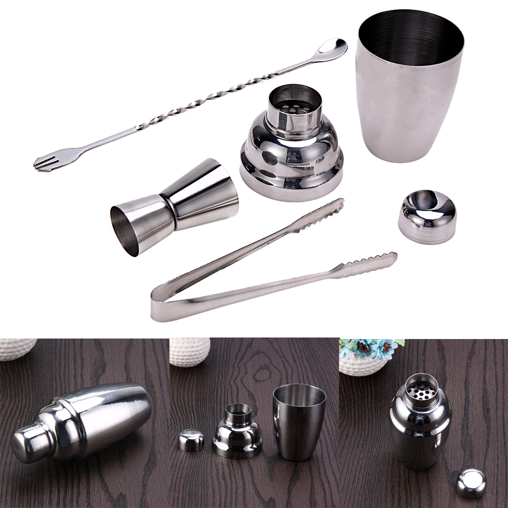 250ml Cocktail Shaker Stainless Steel Drink Mixer Bartender Kit Bars Tool Party Bartending Mixer Wine Drink