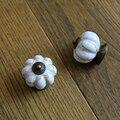 kitchen cabinet knob Marble vein ceramic cupboard pulls Pumpkin shape drawer dresser wardrobe vintage handles pull knob 40mm