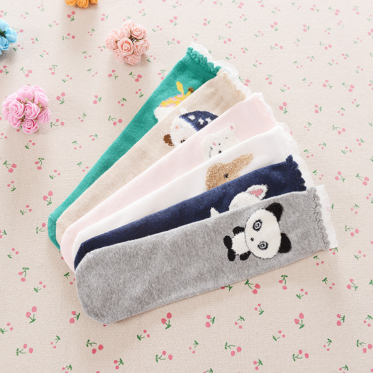 2016 cartoon baby knee high socks boys girls kids cotton knee dress socks leg warmers chidren knee pads meias boots sock 3-9y