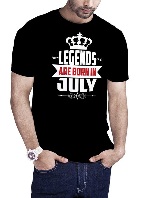 Custom Made Good Quality T Shirt Mens Legends Are Born In July Birthday