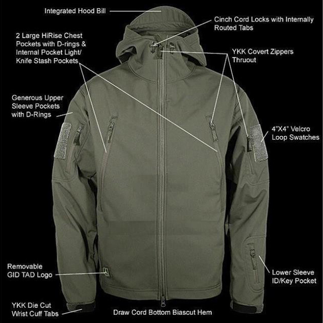 Outdoor Sport Softshell Jackets Or Pants Men Hiking Hunting Clothes TAD Camouflage Military Tactical Sets Camping Hunting Suits  4