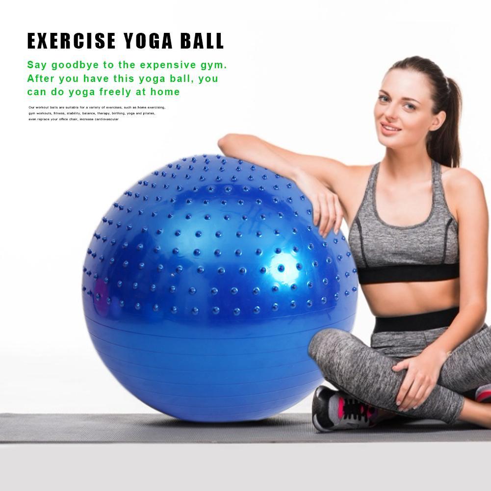 6pcs Yoga Half Ball Balance Trainer Massage Improve Balance Home Gym Use