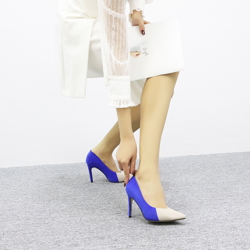 Zapatos Nueva Mujer Aguja Super slip Punta Alta Fresco Cómodos Salvajes Primavera No pink Color Tacón Con De ¿zapatos Pequeño blue Black Bien zUCqPxdnwx