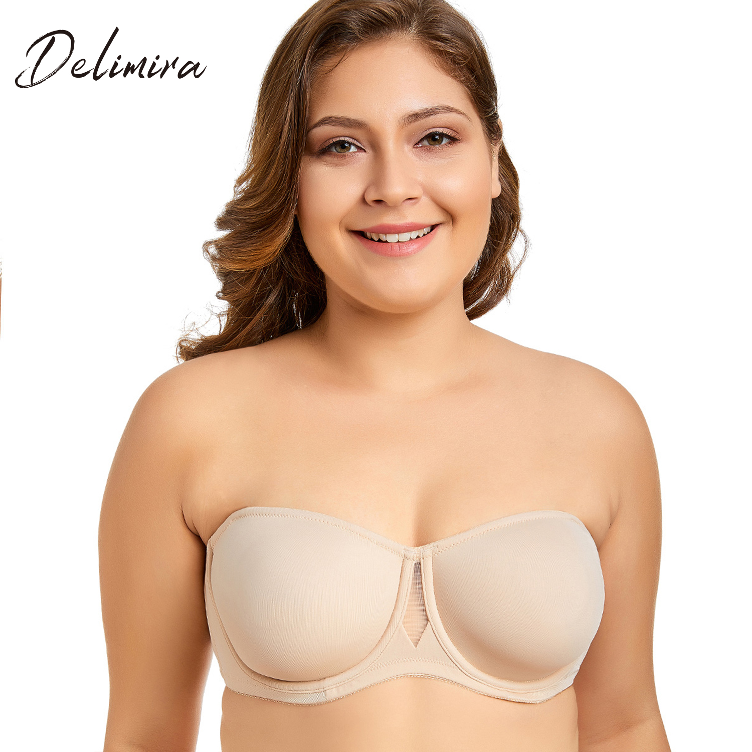 7d7334cfaaeeb Women s Non Padded Smooth Convertible Strapless Underwire Bra-in ...