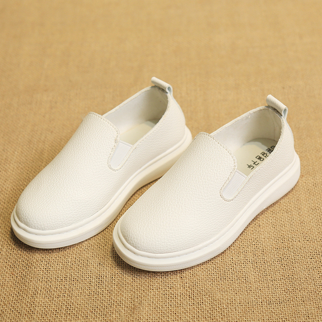2017 New spring fashion Children's Leather Shoes flat children's casual shoes soft bottom anti-slip boys and girls Leather Shoes