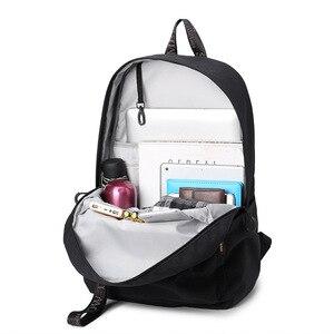 Image 4 - Waterproof Women Backpack Black and Pink Travel Bookbag Lady Back Bag KeyChain Knapsack College School Bag for Girls