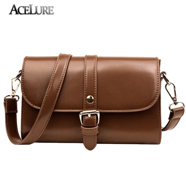 Acelure Mini New Women Clutch Bag Vintage Oil Leather Women Flap