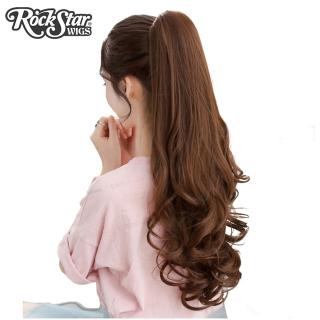 Rockstar wigs 55cm long wavy blackbrown claw synthetic ponytail rockstar wigs 55cm long wavy blackbrown claw synthetic ponytail high temperature fiber hairpiece pmusecretfo Images