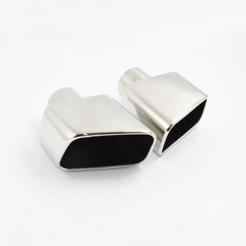 Good quality muffler tail square mouth stainless steel silver car modified exhaust tail mufller tip for various models