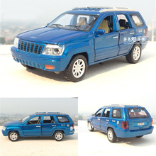 1/32 Scale Diecast Grand Cherokee Replica Model Boys Toys Car With 6 Openable Doors Pull Back Function Music Light As Gift