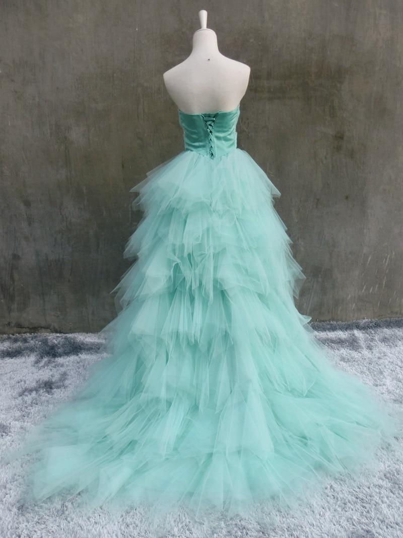 Aliexpress.com : Buy Organza Long Back Short Front Wedding Dresses ...