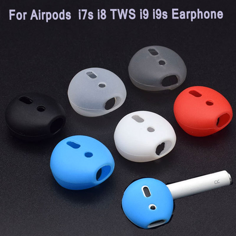 High Quality Silicone For <font><b>Airpods</b></font> Dual Wireless Bluetooth For iphone 7 7plus i7s <font><b>i8</b></font> <font><b>TWS</b></font> i9 i9s Earphone Ear Caps Case Ear pads image